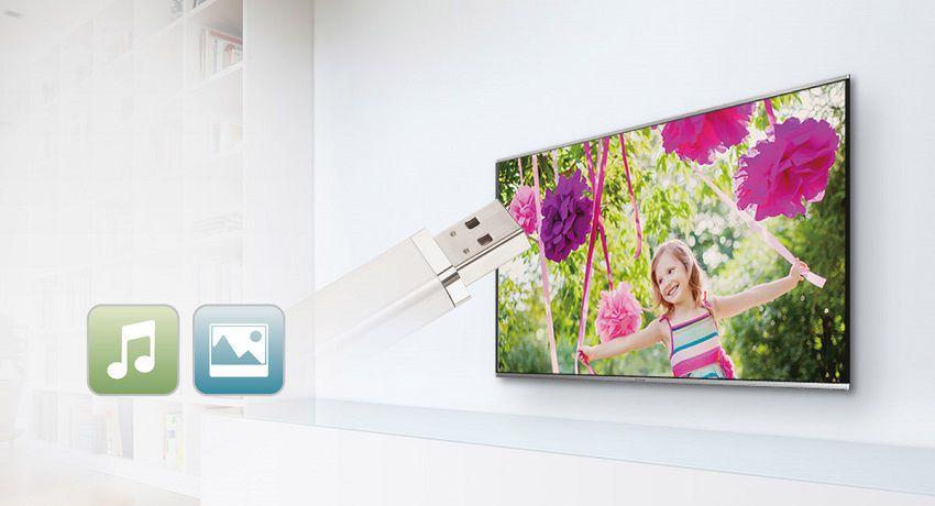 Jednoducho pripojte prostredníctvom USB - PANASONIC TX-48C300E