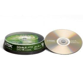 TDK 10DVD+R 8.5GB 8x DoubleLayer Cake