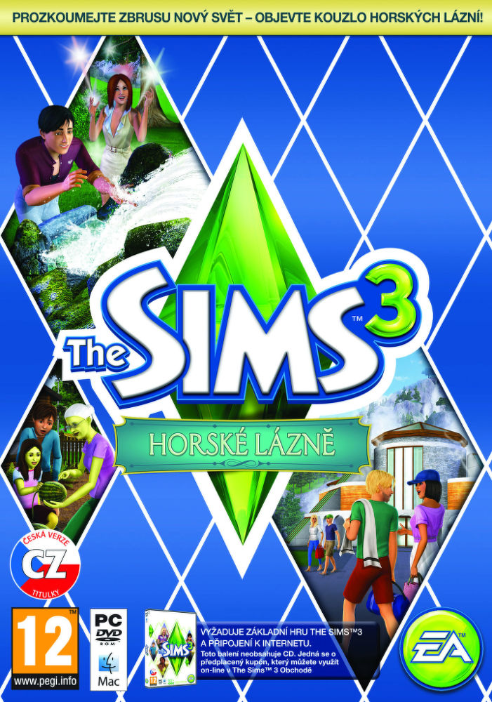 PC - THE SIMS 3 HORSKÉ LÁZNĚ (PC ONLINE)