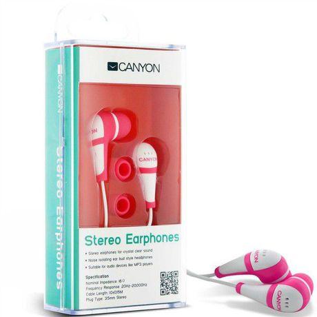 CANYON CNR-EP04, slúchadlá ružové