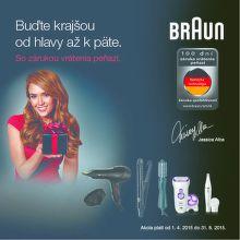Záruka vrátenia peňazí na epilátory a výrobky starostlivosti o vlasy Braun