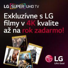 4K filmy na rok zadarmo k UHD televízoru LG