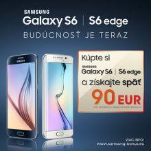 Cashback 90 € na Samsung S6 a S6 Edge