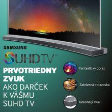 Soundbar k SUHD TV Samsung
