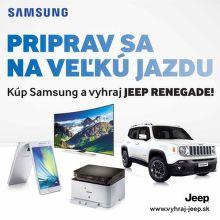 Vyhrajte Jeep za nákup produktov Samsung