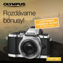 Cashback 100 € na fotoaparáty Olympus