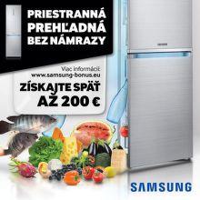 Cashback až do 200 € na chladničky Samsung
