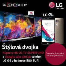 Smartfón LG G4 ako darček k TV LG