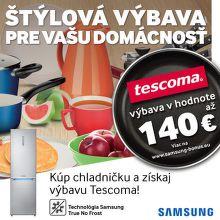 Výrobky Tescoma k chladničkám Samsung