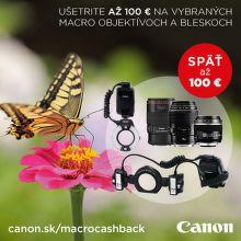 Cashback až 100 € na produkty Canon