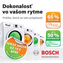 Cashback až 70 € na práčky Bosch VarioPerfect