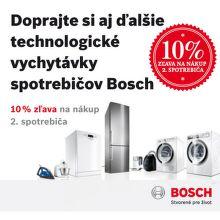 Cashback 10% z ceny druhého spotrebiča Bosch