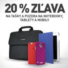 20 % zľava na tašky a obaly
