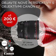 Cashback až do 200 € na objektívy Canon EF