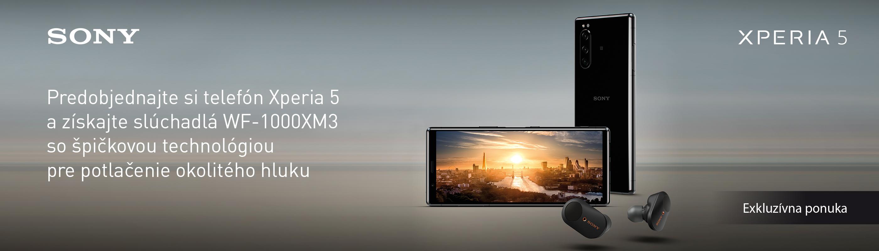 Špičkové slúchadlá Sony ako bonus k predobjednávkam Sony Xperia 5