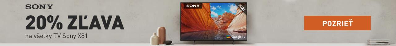 20% zľava na TV Sony X81