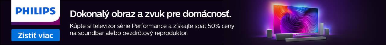 Philips TV 50% cashback na audio produkt