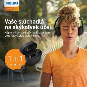 Získajte bezdrôtové slúchadlá v cene športových slúchadiel Philips