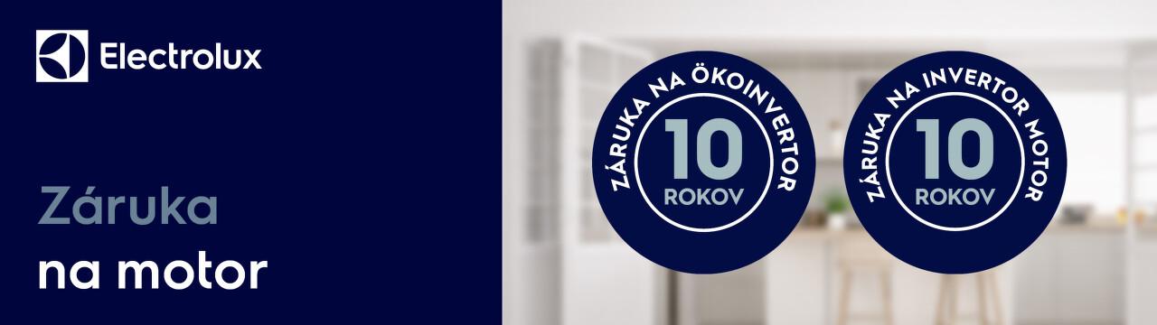 10-ročná záruka na motor spotrebičov Electrolux