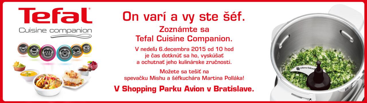 Kuchárska šou s Tefal Cuisine Companion v Avione