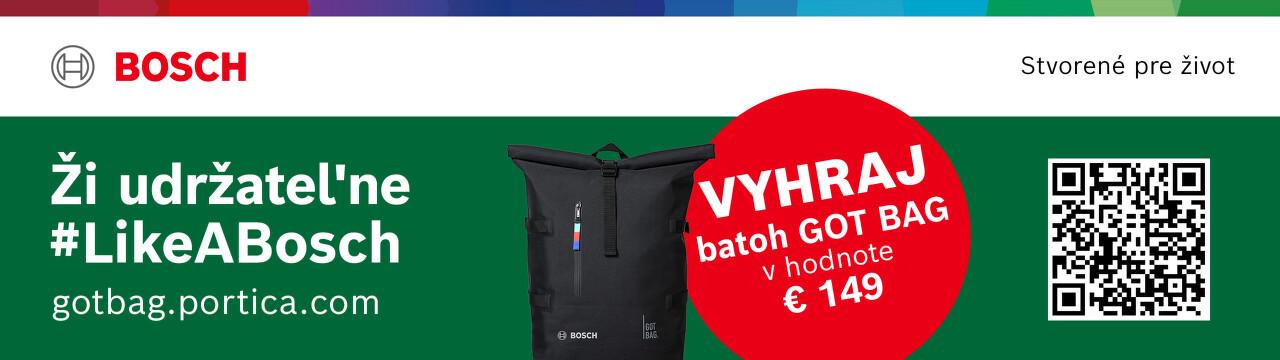 Vyhrajte batoh za nákup náradia alebo záhradnej techniky Bosch