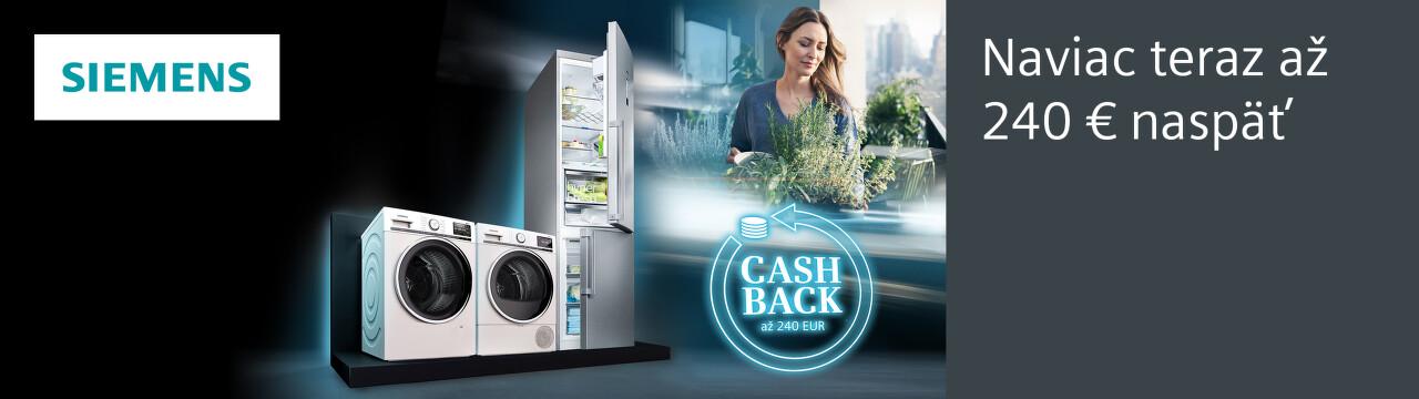 Cashback až do 240 € na spotrebiče Siemens