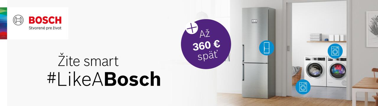 Cashback až do 360 € na spotrebiče Bosch