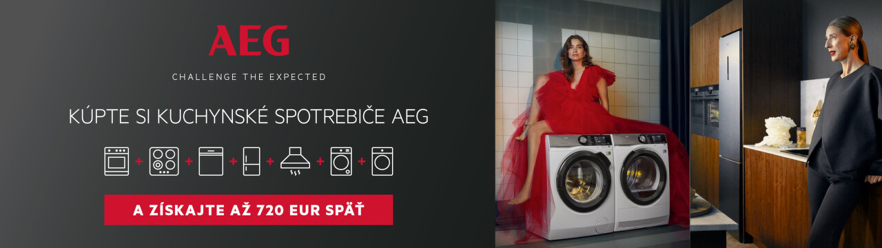 Cashback až do 720 € na spotrebiče AEG