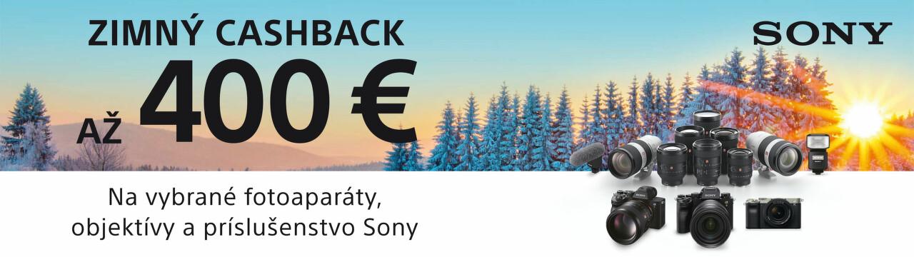 Cashback až do 400 € na fototechniku Sony