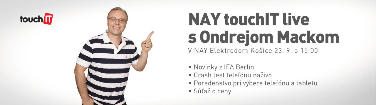 NAY Touch IT live s Ondrejom Mackom