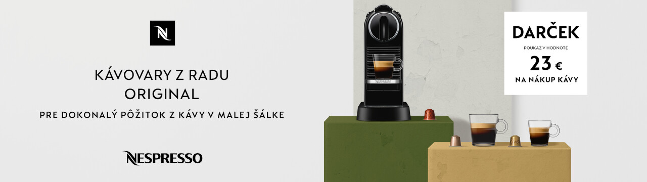 Poukážka na nákup kávy ku kávovarom Nespresso Original