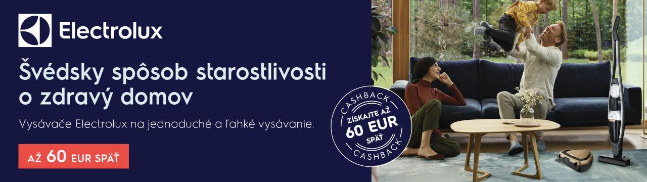Cashback až do 60 € na vysávače Electrolux