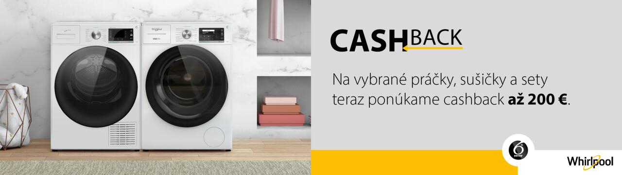 Cashback až do 200 € na práčky a sušičky Whirlpool