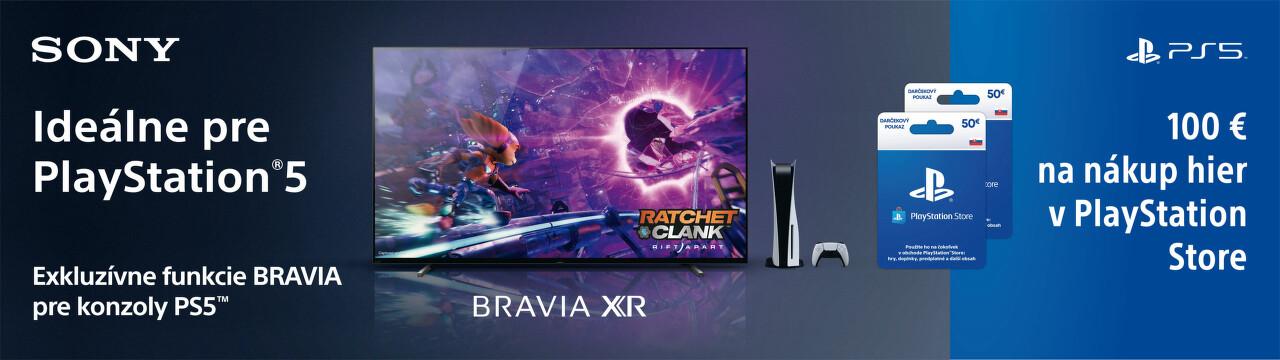 100 € do PlayStation Store k TV Sony Bravia
