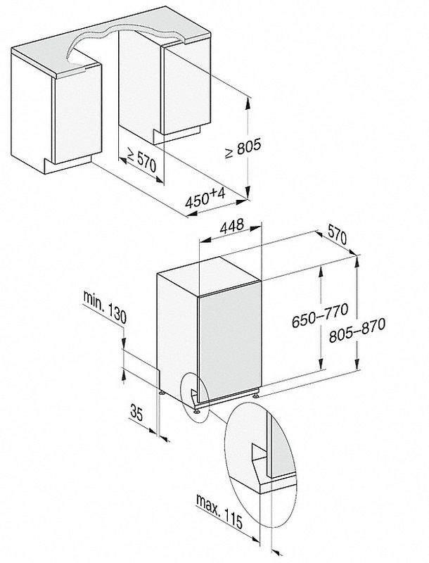 Miele G5481 SCVi ED vstavaná umývačka riadu | Nay.sk