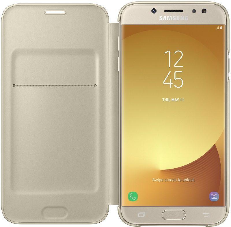 Samsung flipové puzdro pre J7 2017 zlatá  6a7af2780de