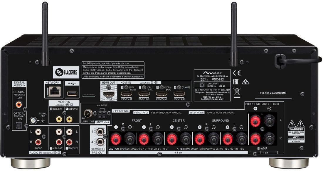 7f62d1f03 Pioneer VSX-932 čierny AV receiver | Nay.sk