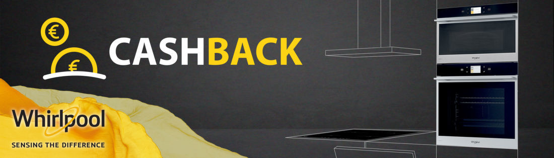 Cashback až do 100 € na vstavané spotrebiče Whirlpool