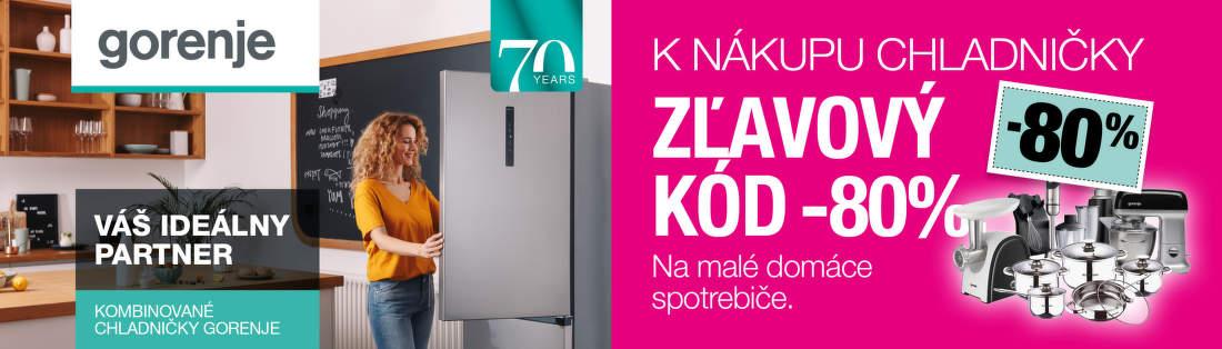 80% zľava na malý spotrebič k chladničkám Gorenje