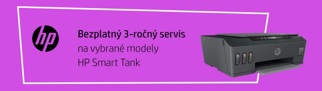 3-ročný servis na tlačiarne HP Smart Tank