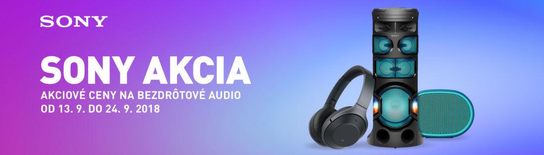Sony akcia na bezdrôtové audio