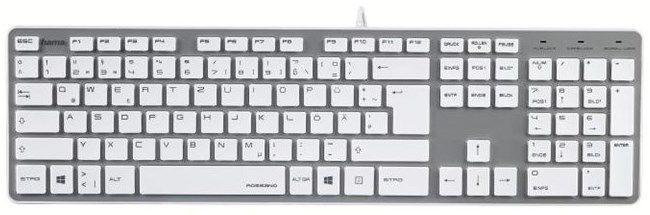93ea2b7ff HAMA Rossano, 50453 (biela/strieborná) - drôtova klávesnica ...