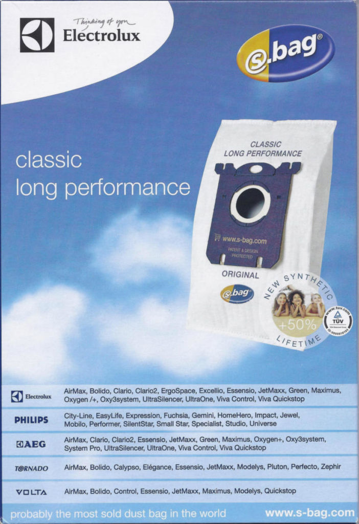 10e381fb9 ELECTROLUX E201B Long Performance - Vrecká do vysávača s-bag (4 ks ...