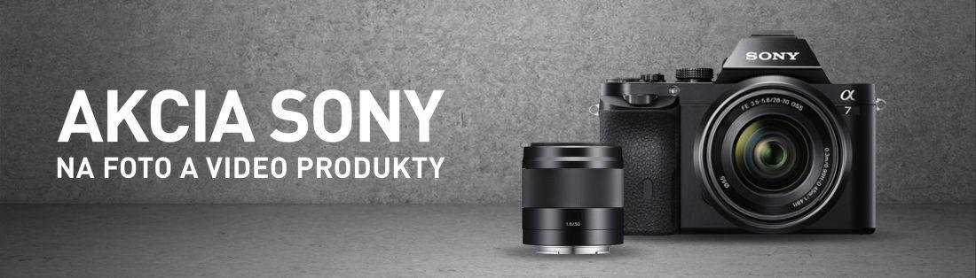 Foto a video akcia Sony