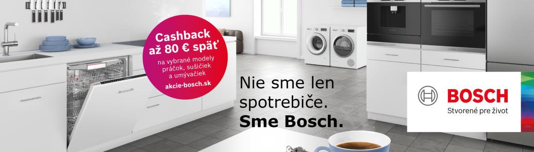 Cashback 80 € na umývačky riadu Bosch