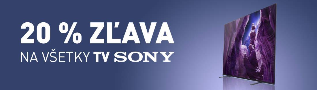 20% zľava na všetky TV Sony