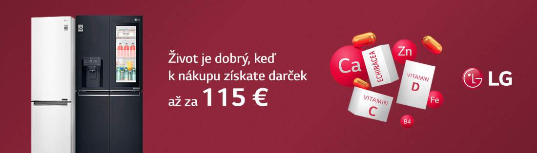 Darčeky v hodnote až do 115 € k chladničkám LG