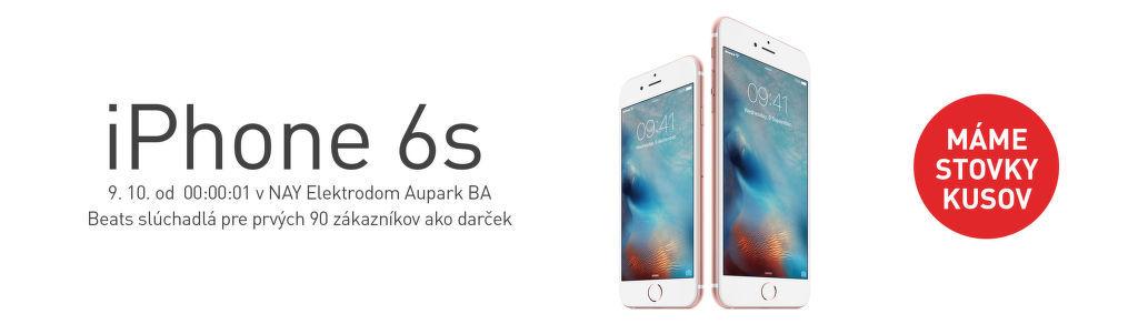 Polnočný predaj iPhone 6s a iPhone 6s Plus