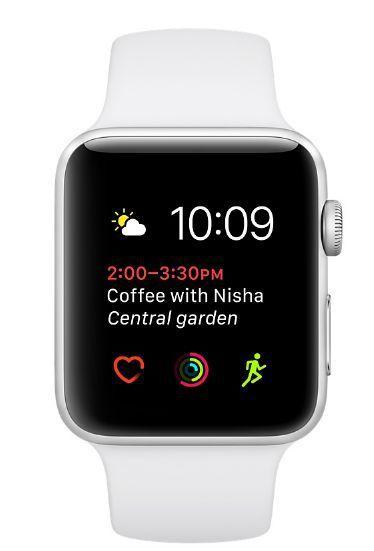 966c35842 Apple Watch Series 2 38mm (strieborný hliník / biely športový remienok)