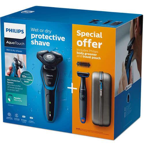 Philips S5050 64 AquaTouch Wet Dry pánsky holiaci strojček  d3aa00f4ddd